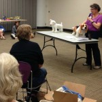 Elaine Garley of Animal Bridges talks to North Star Therapy Animals Teams