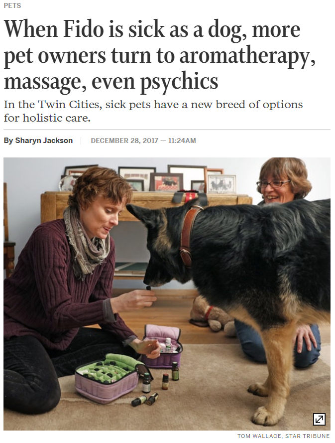 As seen in Minneapolis Star Tribune on holistic pet care